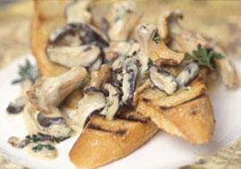 Wild Mushroom Toasties